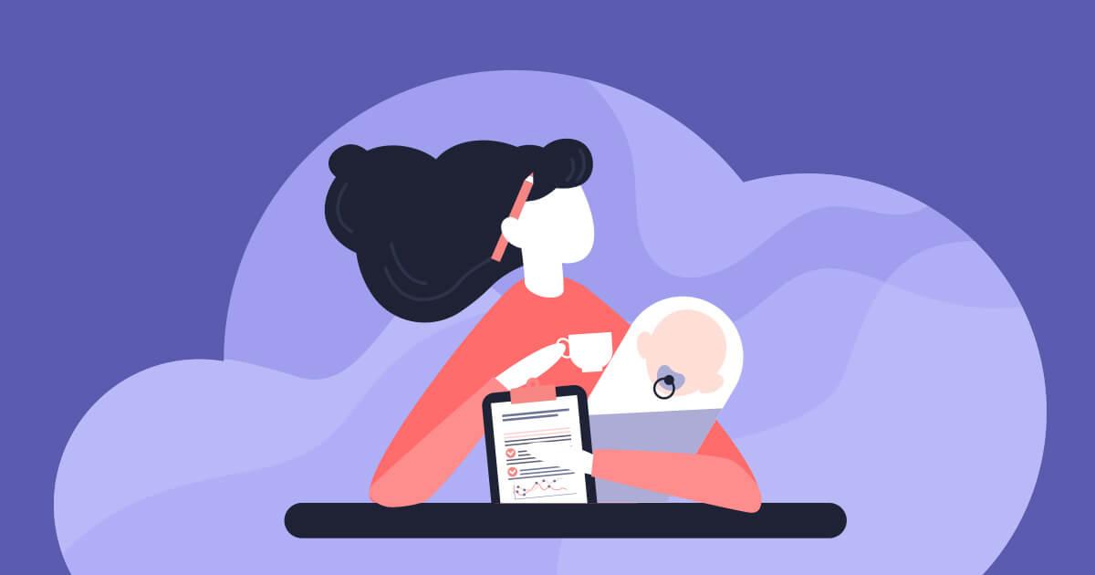 Cómo hacer home office y cuidar a tu bebé sin morir en el intento